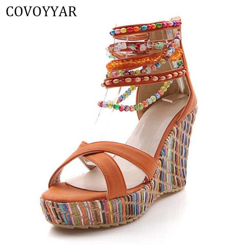 a138a0d2037f4e 2019 moda czechy frezowanie kobiety sandały buty na koturnie narodowy  damskie buty Peep Toe lato PU skórzane buty damskie WSS568