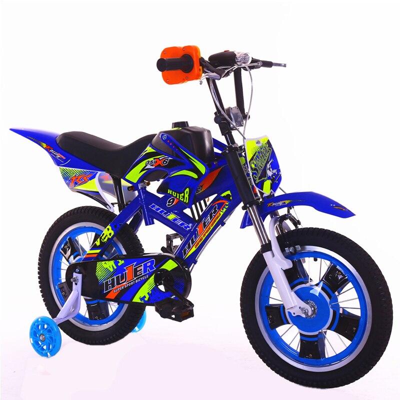 2018 Nouvelle Moto de style Enfants de Vélo 12 16 20-pouces Amortissement Vtt Garçon 2-13 Ans vieux Enfant Vélo enfants bicicleta