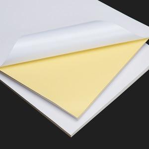 Image 4 - 送料無料 50 ピース/ロット A4 白紙ステッカー自己粘着手書きインクジェットレーザープリンタブラウン A4 印刷ステッカー