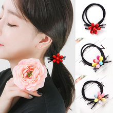 Seaside Handmade Seven Petals Graceful 1PC Gifts Beautiful Unique Elasticity Korean 3 Colors Sale Hair Rope High Quality(China)
