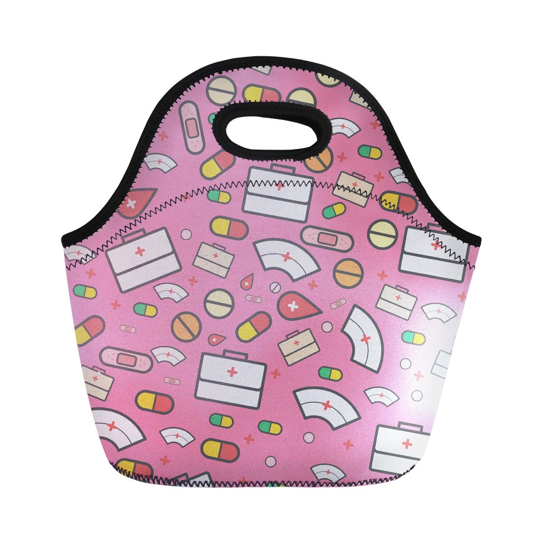 NOISYDESIGNS NEW Nurse Print Lunch Bags for Kids Thermal Picnic Bag Pinic Insulate Food Bags Customize Lunch Box Bag Cartoon