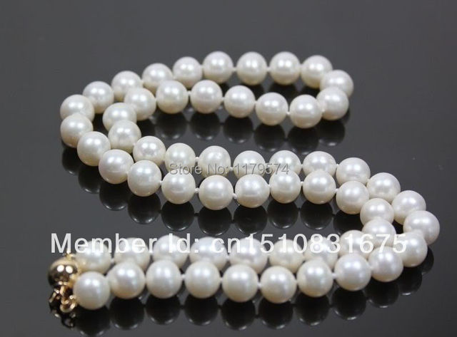 "Noble and beautiful woman all-match natural pearls Stunning! AAA 7-8mm White Akoya Cultivation Pearl Necklace 18"" +"