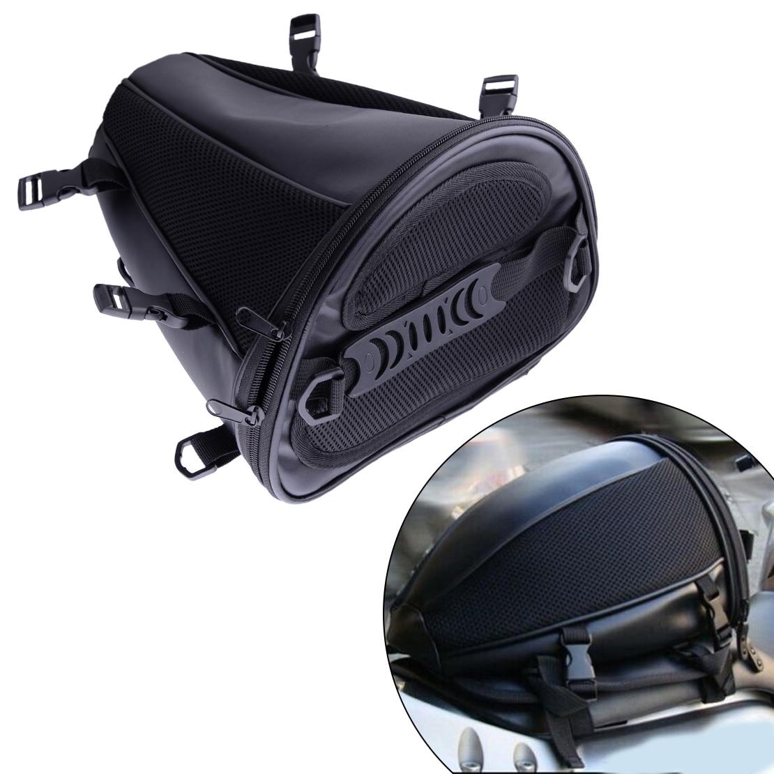efc95669af16 US $21.49 14% OFF|CITALL Motorcycle Dirt Bike Dual Sport Black Waterproof  Microfiber Tail Bag Back Seat Storage Carry Hand Shoulder Saddlebags-in ...