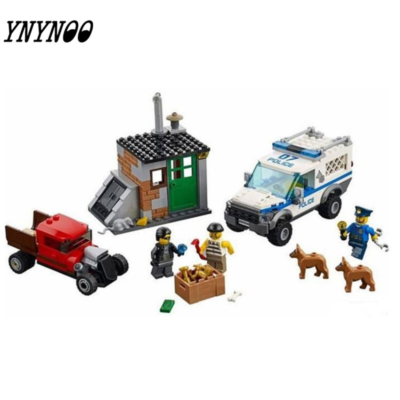 (YNYNOO)Compatible City  Block Police Dog Unit 60045 Building Bricks 10419 Policeman Toys For Children 011 lepin 02012 city deepwater exploration vessel 60095 building blocks policeman toys children compatible with lego gift kid sets