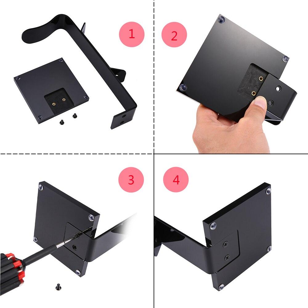 Universal Multifunctional Headphone Acrylic Headset Earphone Stand Holder Display for Headphones bracket Black for tablet