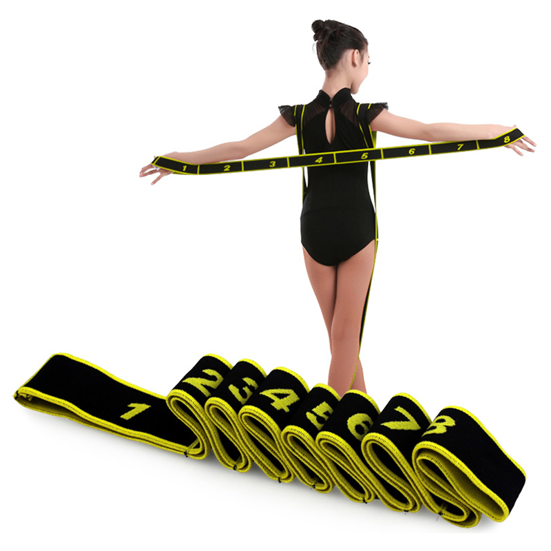 Red Elastic Ballet Latin Stretch Band Flexibility Gym Yoga Pilates Foot Stretch Bands Exercise Training Dance Accessories Tool