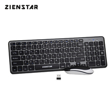 Zienstar Spanish Letter 2.4G Wireless Keyboard Mouse Combo with USB Receiver for Desktop,Computer PC,Laptop and Smart TV