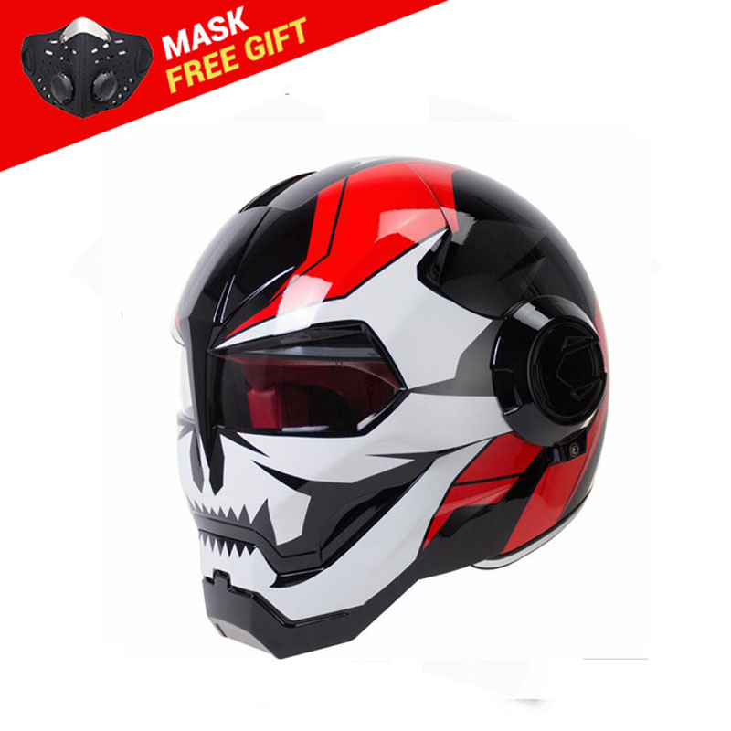 HEROBIKER Motocross Helmet Moto Biker Casque Motorcycle Helmet Riding Cruiser Vintage Retro Capacetes Motorbike Full Face Helmet masei mens womens war machine gray ironman iron man helmet motorcycle helmet half helmet open face helmet abs casque motocross
