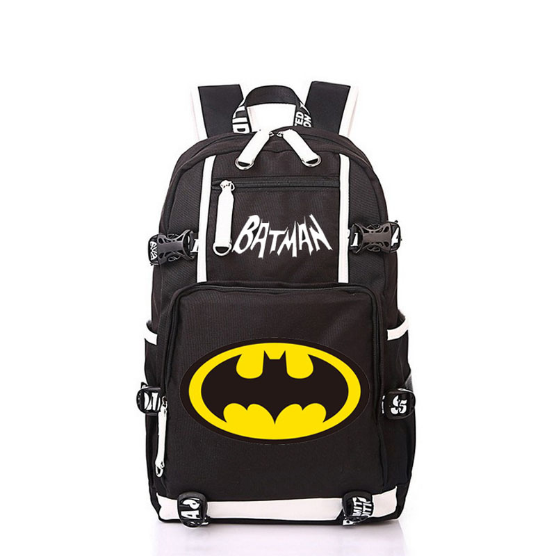 Women Men Super Hero Batman Bat Backpack Rucksack Mochila Schoolbag Bag For School Boys Girls Student Travel men backpack student school bag for teenager boys large capacity trip backpacks laptop backpack for 15 inches mochila masculina