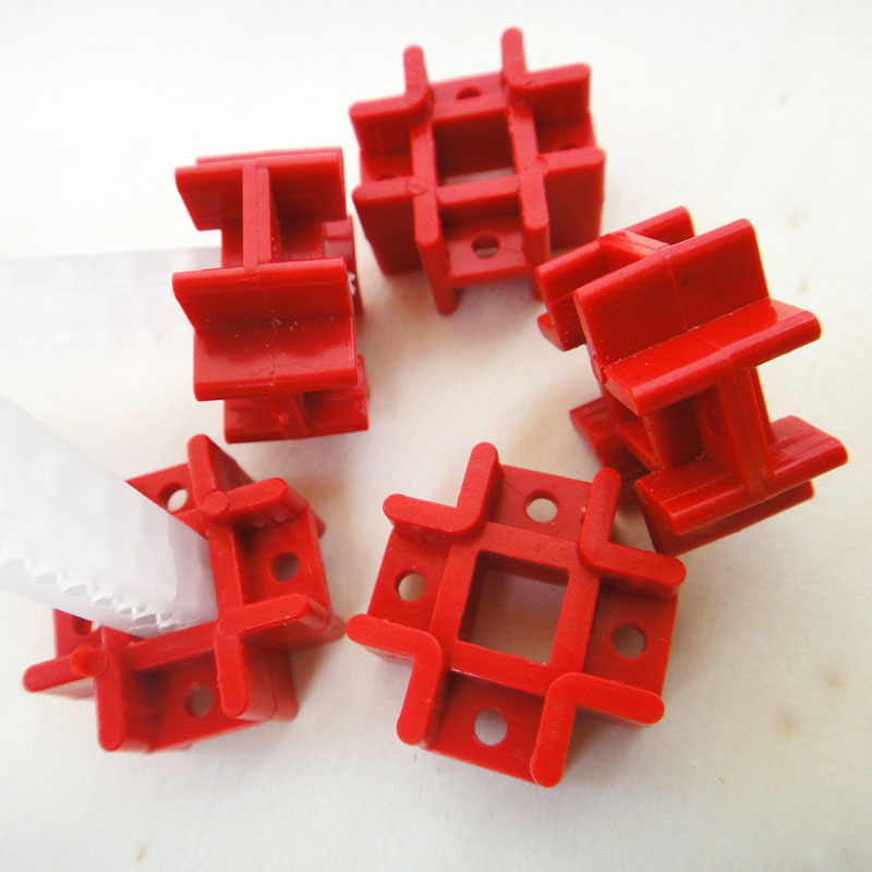F17604 JMT 5Pcs Red Education Toy Tic Tac Connector Fastener Cross Holder DIY Create Assembing Toy Accessory