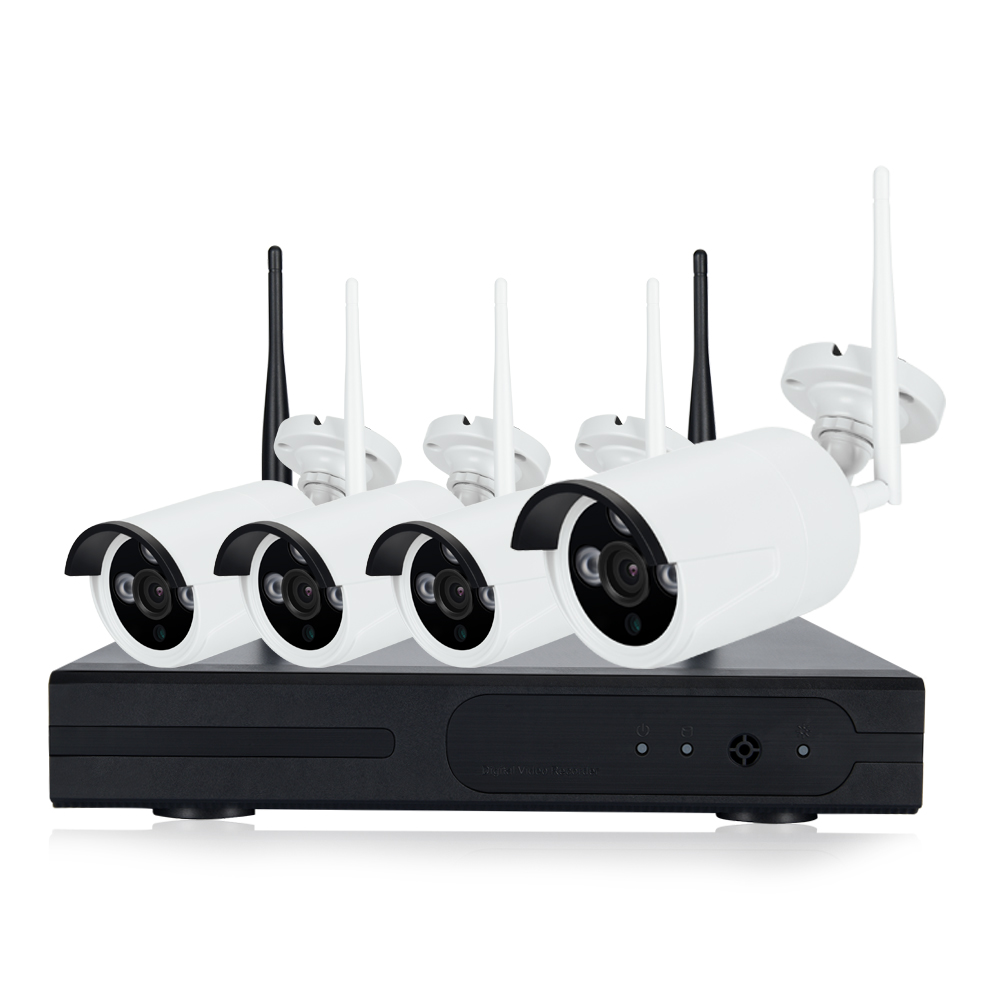Wireless 4CH CCTV NVR KIT 4pcs IP Camera WiFi 720P/960P/1080P Home Security Camera System Waterproof HDMI Video Network Monitor
