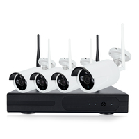 Wireless 4CH CCTV NVR KIT 4pcs IP Camera WiFi 720P 960P 1080P Home Security Camera System