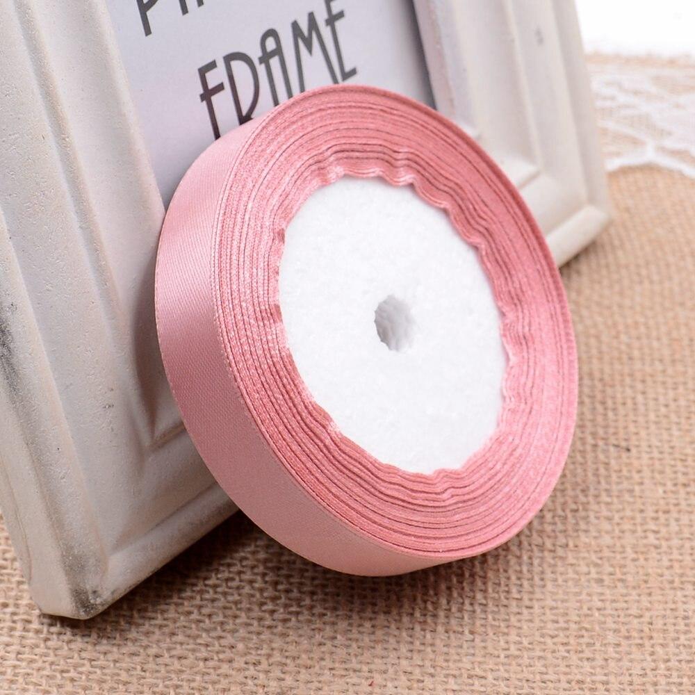 Ткань 10 мм 25 ярдов Белый Шелковый Атласный органза полиэстер лента для шитья Свадебная вечеринка украшение тесьма для рукоделия Подарочный упаковочный пояс - Цвет: 29