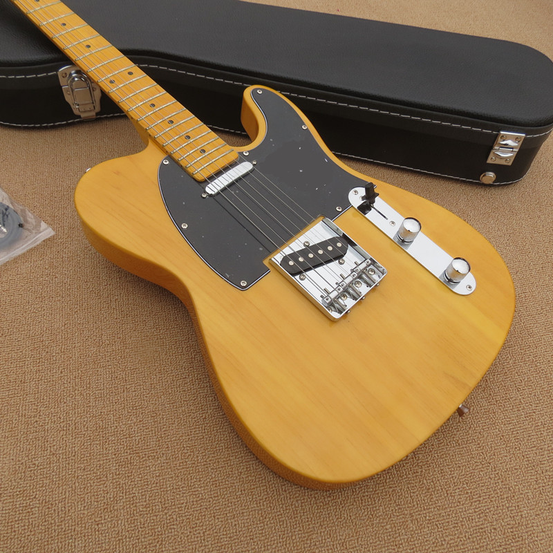 Factory custom shop 2016 New telecaster yellow wood MAPLE fretboard 6 string electric guitar Free shipping