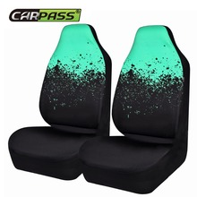 Car-pass 2 Front Car Seat Cover Universal Fits Most Auto Interior Accessories Seat Covers 3 Colors Automotive Cushion Protective