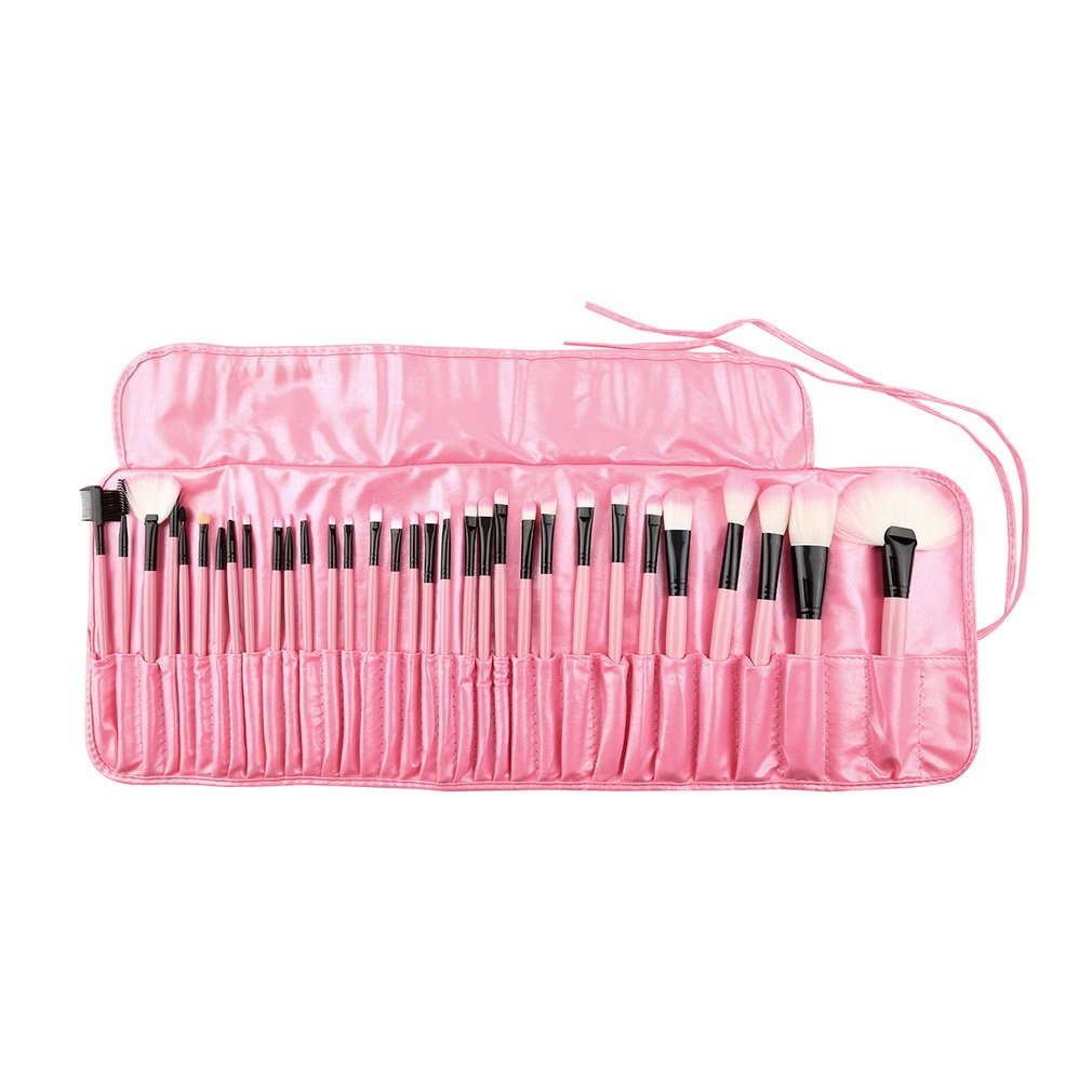 32Pcs Pink Pro Superior Soft Cosmetic Makeup Brush Kit With Pouch Bag For Eye Brow Shadow highlighter Lady Party Makeup FM88 pro 32 статуэтка мал повар profisti parastone 869379