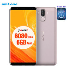 "Ulefone Power 3 Gesicht ID 6,0 ""18:9 FHD + Smartphone 6 GB RAM + 64 GB Android 8.1 Octa-core 4 Kameras 21 Mt + 13.0MP 6080 mAh 4G Handy"