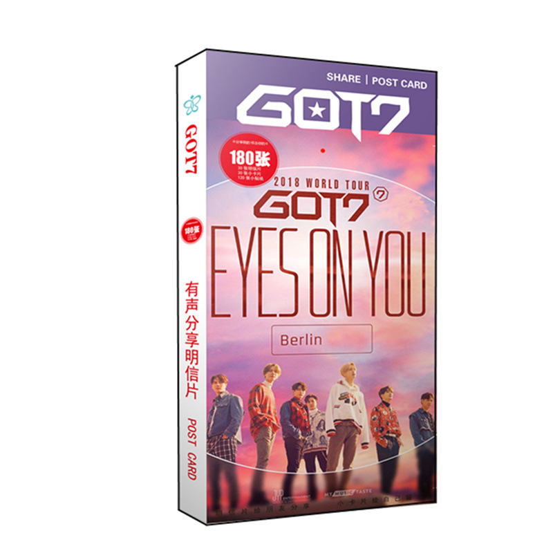 KPOP GOT7 EYES ON YOU Album LOMO Cards K-POP New Fashion Self Made Paper Photo Card HD Photocard