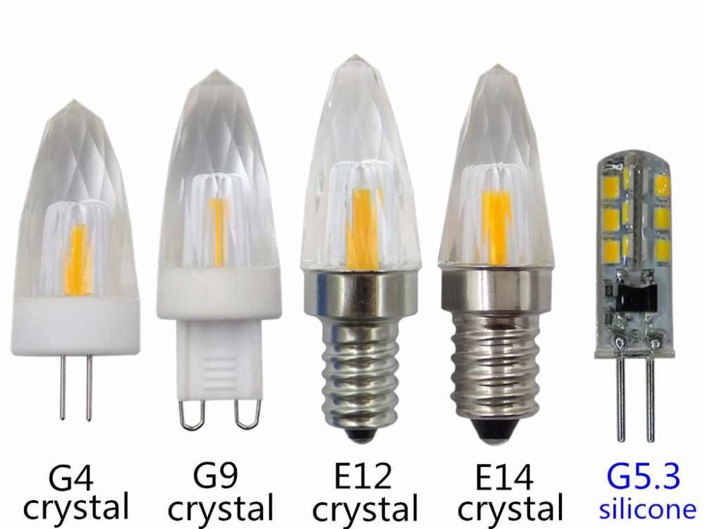 LED G4 G9 E12 E14 クリスタルライト G5.3 シリコーン電球 110v 220v G4 クリスタル電球 E14 g9 クリスタルライト g5.3 220v led