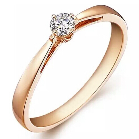 simple real diamond 14k engagement ring non simulated 01ct genuine diamond rose gold wedding band - Cheap Real Diamond Wedding Rings