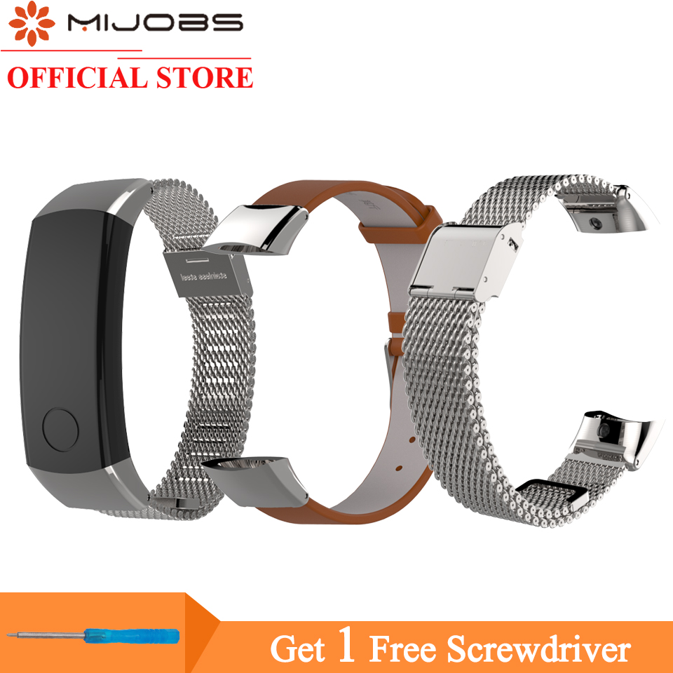 Mijobs Smart Wrist Band Strap For Huawei Honor 3 Band With Repair Tool Adjustable Smart Bracelet Accessories For Honor Band 3