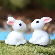 Новинка Лидер продаж Мини кролик орнамент миниатюрная фигурка горшок для садового растения Декор Игрушки для дома ремесла классический художественный коллекционный