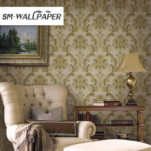 Aliexpress Com Buy Luxury Deep Embossed Damask Design Living Room