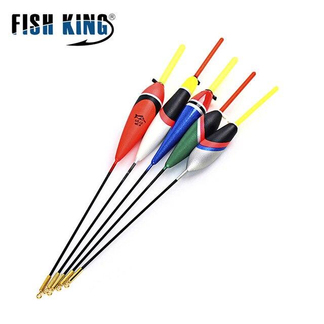 FISH KING 5 шт./Партия 1 г-5 г дневной поплавок для ночной рыбалки с 4 шт. осветительный фонарь на подставке для бесплатного подарка Pesca Boia Flotteur Peche снасти