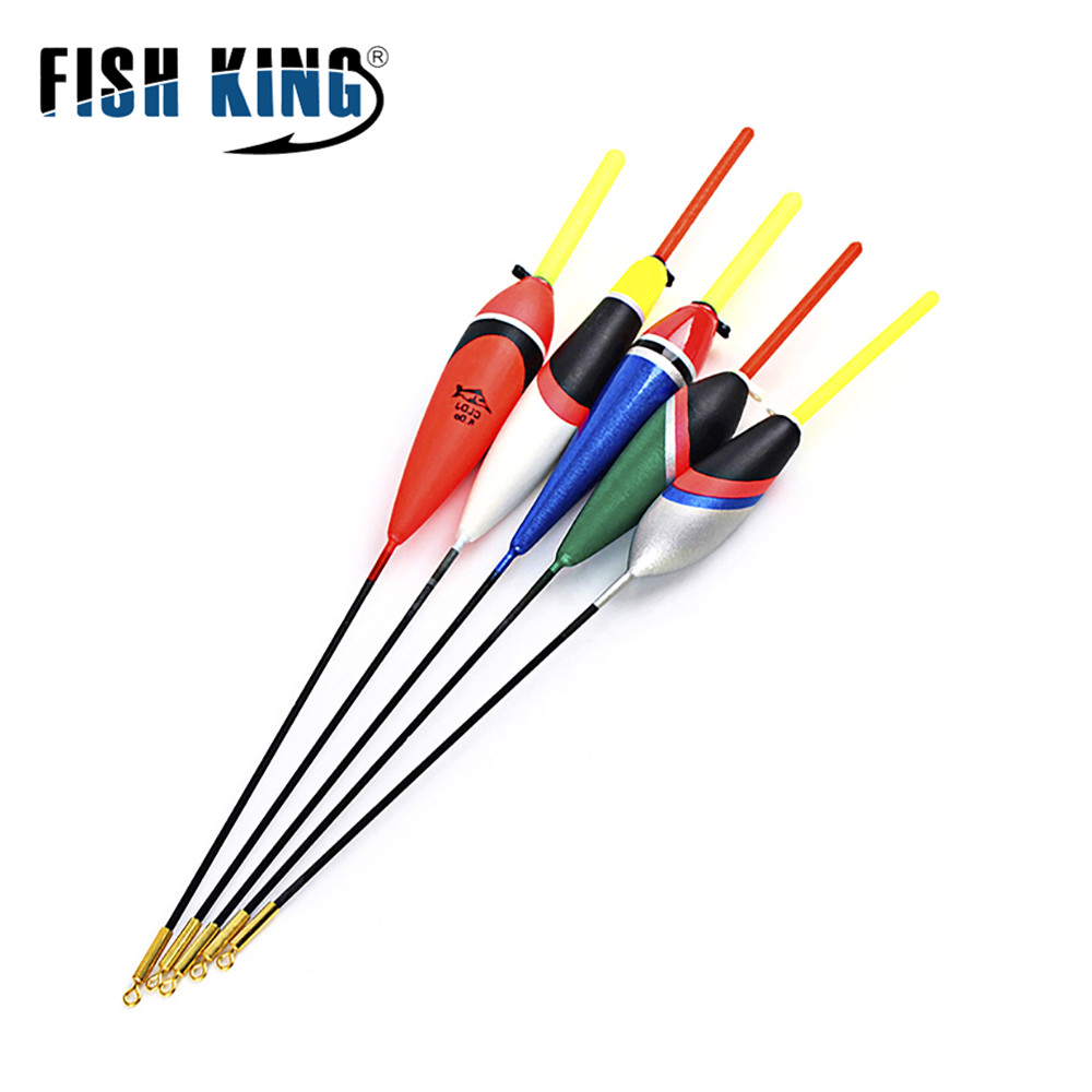 FISH KING 5PCS/Lot 1g-5g Day Night Fishing Float With 4PCS Glow Light Stick For Free Gift Pesca Boia Flotteur Peche Tackle image