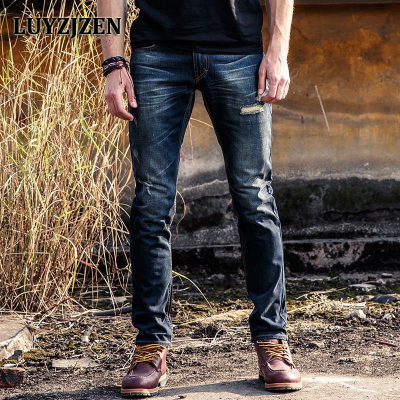 2017 Italian Style Fashion Solid Skinny Jeans Men Brand Designer Clothing Boys Denim Pants Luxury Casual Trousers Male 40 jeans men fashion full length solid skinny jeans men brand designer clothing denim pants luxury casual trousers male plus size