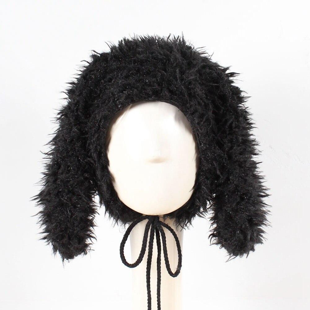 Fashion Kids Hat Faux Fur Cute Rabbit Ear Beanie Baby Toddler Winter Warm Cap Boys Girls Casual Hats Photography Props B
