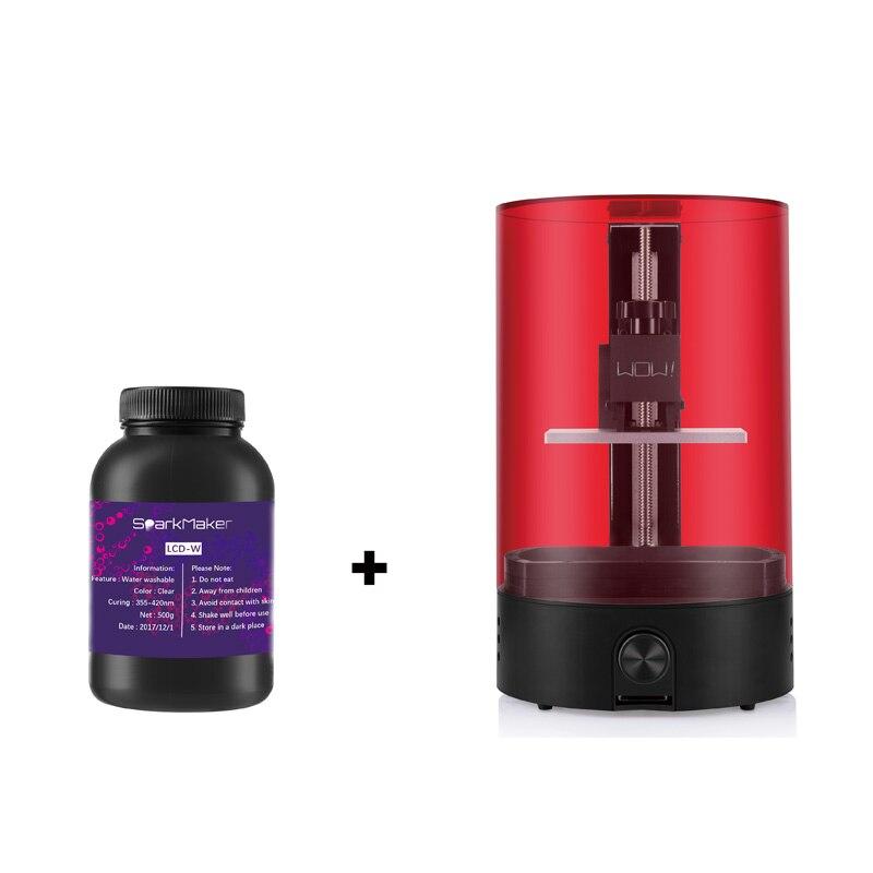 Sparkmaker wow résine UV durcissement SLA/DLP/LCD imprimante 3d volume d'impression 98mm * 55mm * 125mm votre première impression 3d/