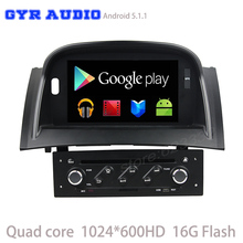 Quad core 1024*600 android 5.1 игрок Автомобиля dvd GPS для Renault Megane 2 Fluence 2003-2009 с WIFI 3 Г usb BT зеркало ссылка