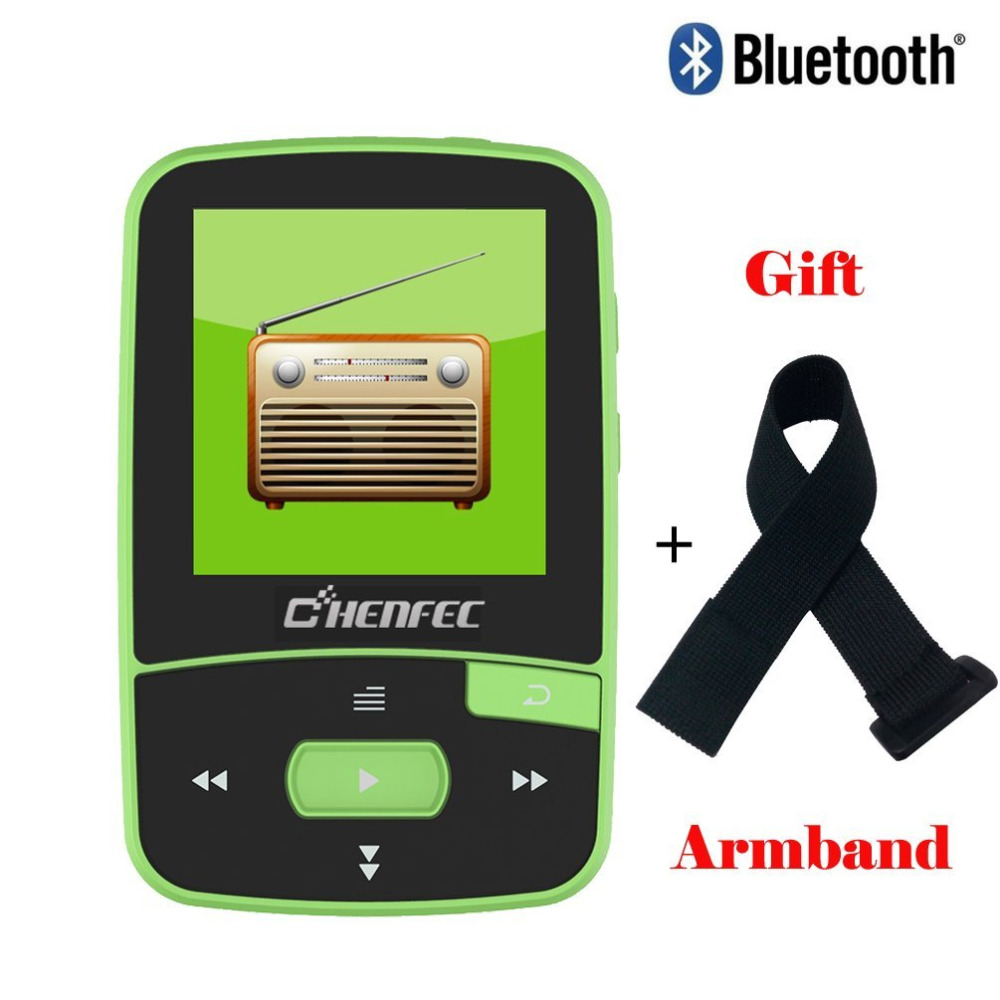 Original CHENFEC C50 8GB Clip Mini Sport MP3 Music Player Running with Screen Can Play 3 ...