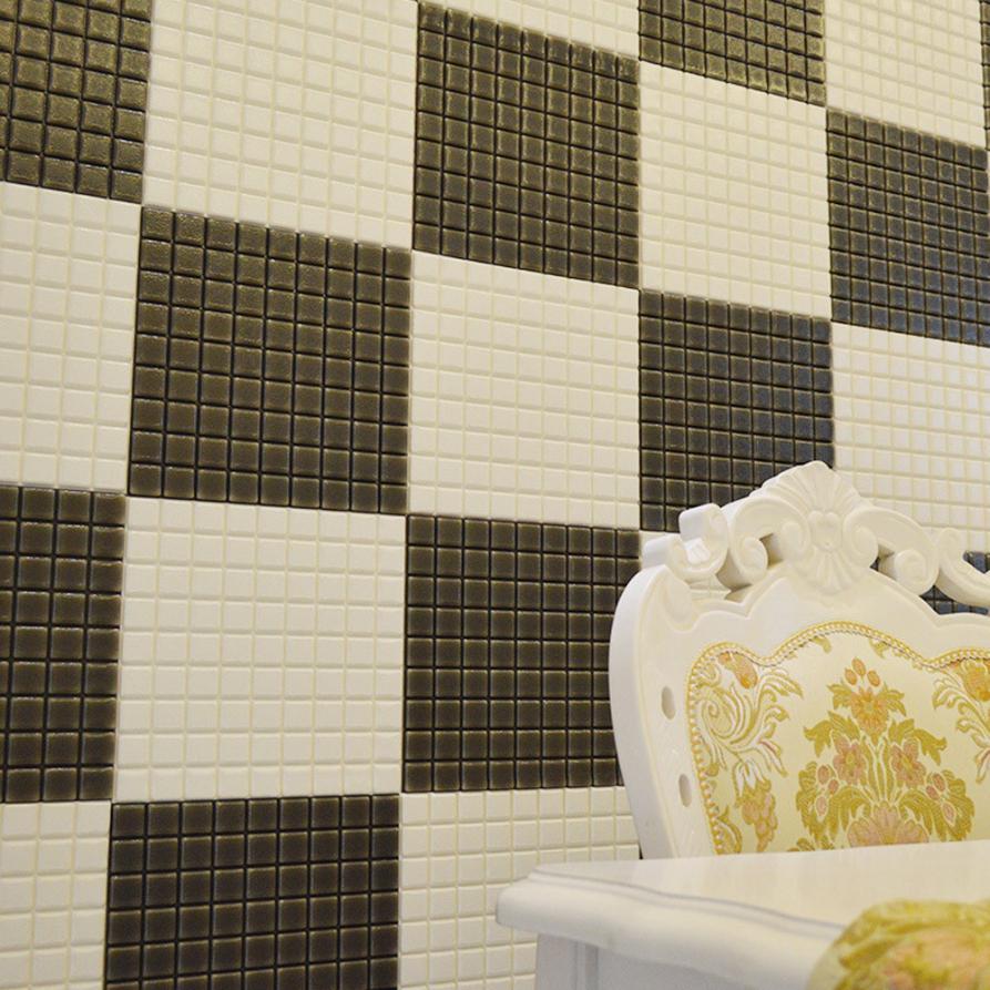 New PE Foam 3D Self adhesive Mosaic Wall Sticker Tile Floor Kitchen ...