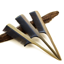 Wooden Hair Combs Hairdressing Tools Makeup Ox Horn Green sandalwood Handle Combs Head Scalp Massager Hair brushes brosse