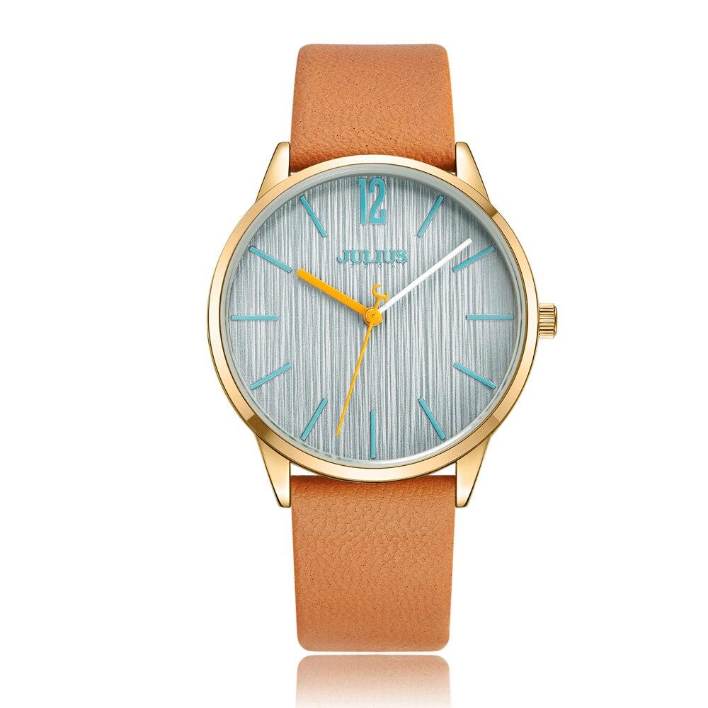 New Lady Womens Watch Japan Quartz Elegant Classic Fashion Simple Hours Bracelet Leather Clock Girl Birthday Gift Julius Box