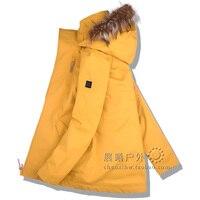 Fur Hooded GSOU SNOW Women Ski Clothing Skiing Jacket Snowboard Coat Windproof Waterproof Outdoor Sport Wear Female Winter Coat
