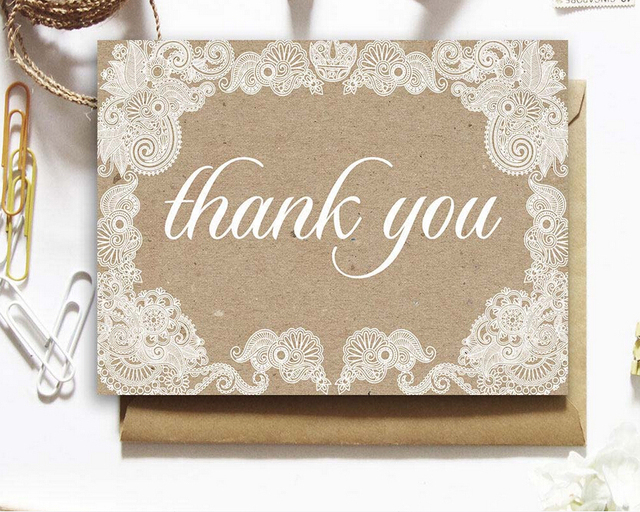 New arrival Personalized Wedding Thank You Card /Custom Baby Shower