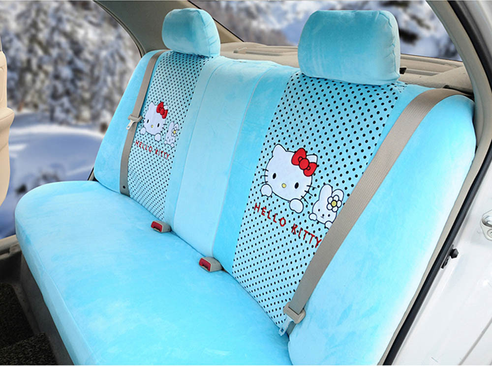 Excellent Hello Kitty 18Pcs Fashion Cool Car Seat Covers Soft Plush Ibusinesslaw Wood Chair Design Ideas Ibusinesslaworg