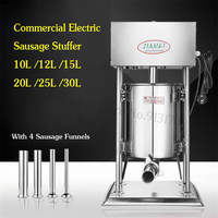 Electirc Sausage Stuffer Automatic Sausage Meat Filling Machine Commercial 10l Churro Extruder Stainless Steel Churros Maker