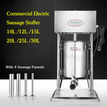 Electirc Sausage Stuffer Automatic Sausage Meat Filling Machine Commercial 10L Churro Extruder Stainless Steel Churros Maker стоимость