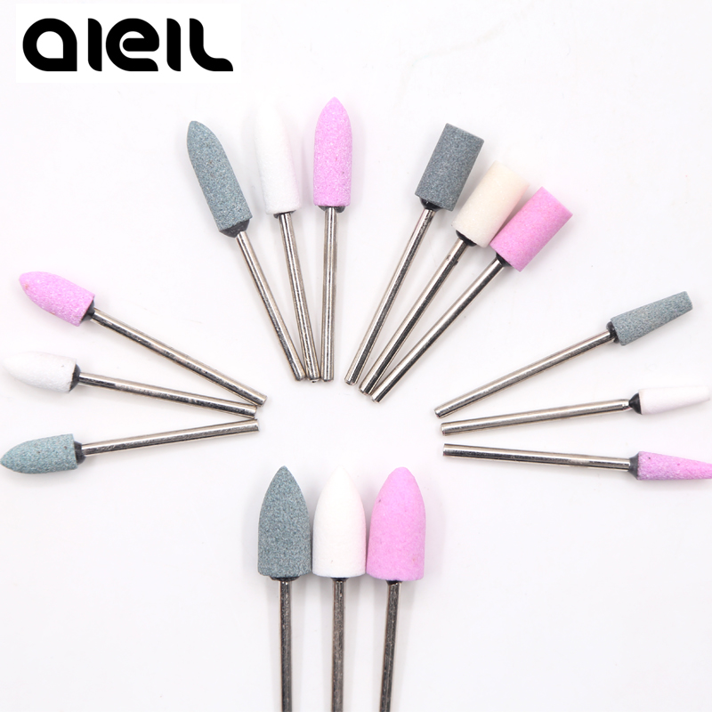 Ceramic Stone Nail Drill Bits Manicure Set Cutter For Pedicure Manicure Machine Polish Electric Milling Cutter For Manicure Nail
