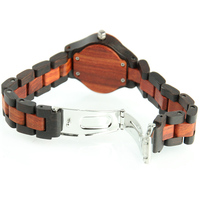 Ladies Bracelet Quartz Watch Women Red Sandalwood Watch Exquisite Handmade Quartz Wristwatches LXH