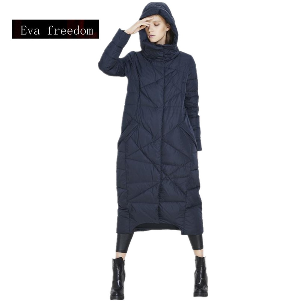 High quality European and American big long thicker down jacket women genuine female cold winter coat