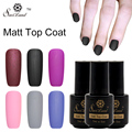 Saviland 1pcs Matt Top Coat Nail Art UV Gel Polish Matte Finish Top Coat Long Lasting Soak Off LED UV Gel Lacquer