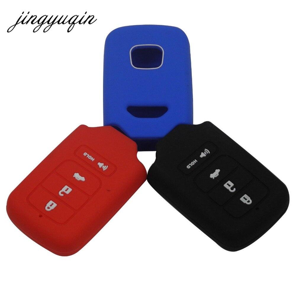 Jingyuqin 30pcs lot silicone key fob cover for honda for accord civic pilot crv hrv