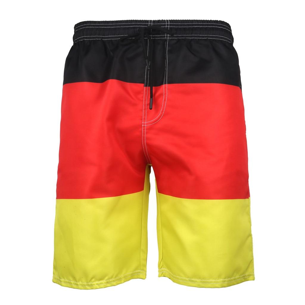 Shorts Swimsuit Boy Swimwear Beach-Pants Summer 3D Badehose Printed Recreational Men's