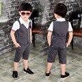 2016 New Children Suit Baby Boys Suits Kids Blazer Boys Formal Suit For Weddings Boys Clothes Set Kids Vest+Pants 2pcs 3-10Y