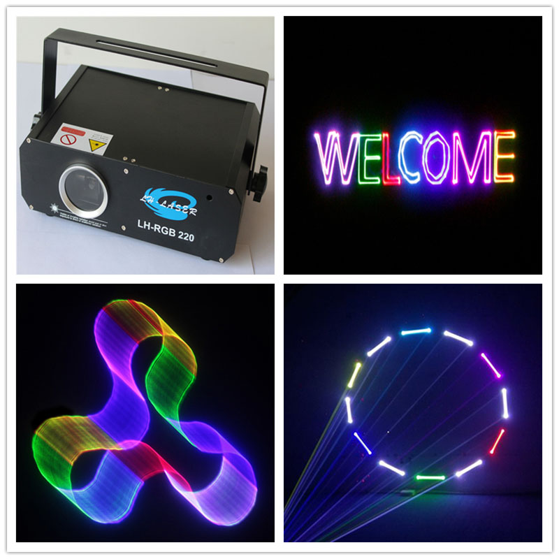500MW RGB 3D Laser Light With 2D Beam, 500MW 3D Laser Projector Multi-Color Cartoon Laser Show System For Dj Disco Club Lighting